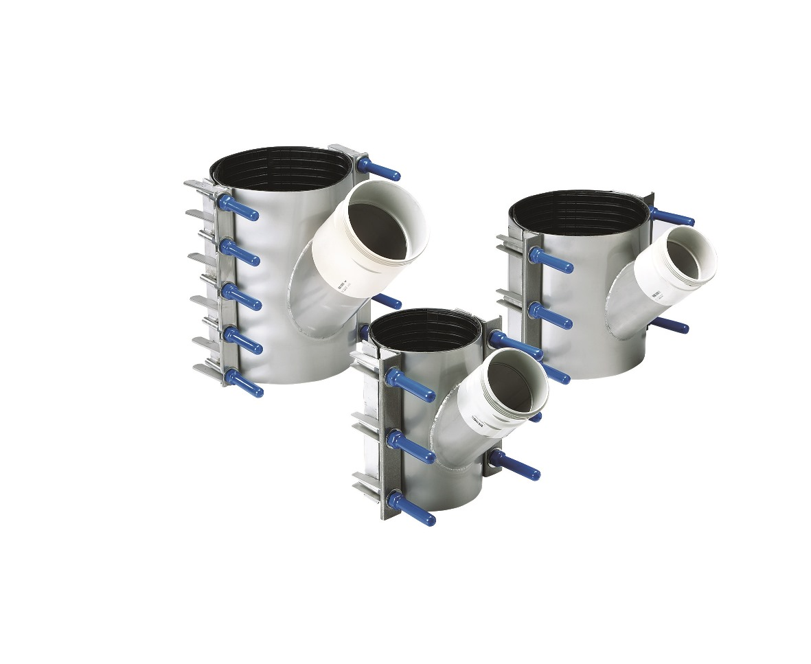 Stainless Steel Sewer OB Junction Clamps