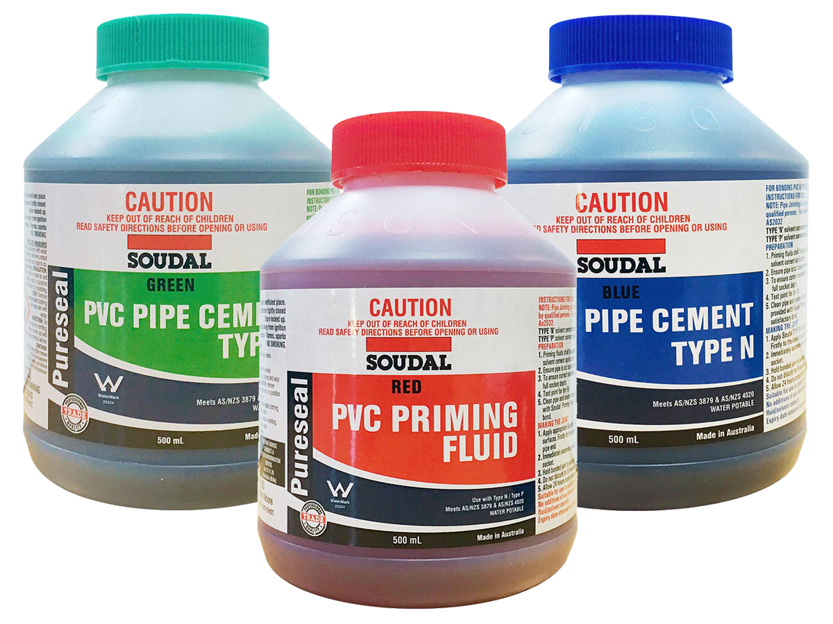 Pureseal PVC Solvent Cement & Priming Fluid