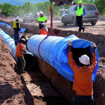 VIADUX Water Solutions Eyre Peninsula Pipeline Ductile Iron Pipe